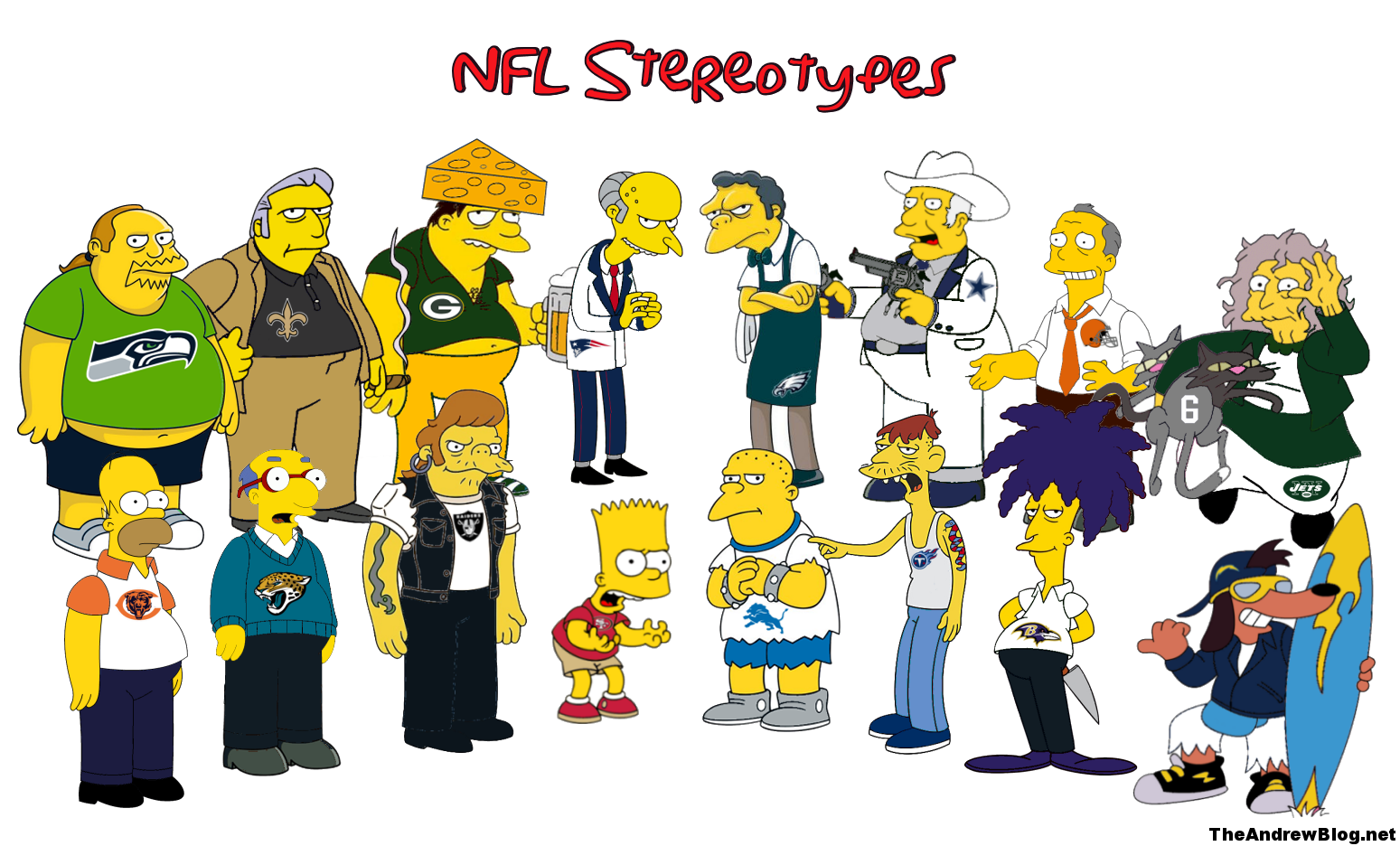 Simpsons Nfl Stereotypes Final